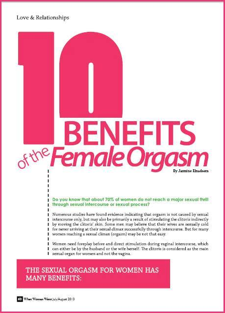 10 Benefits Of Sexual Orgasm For Women