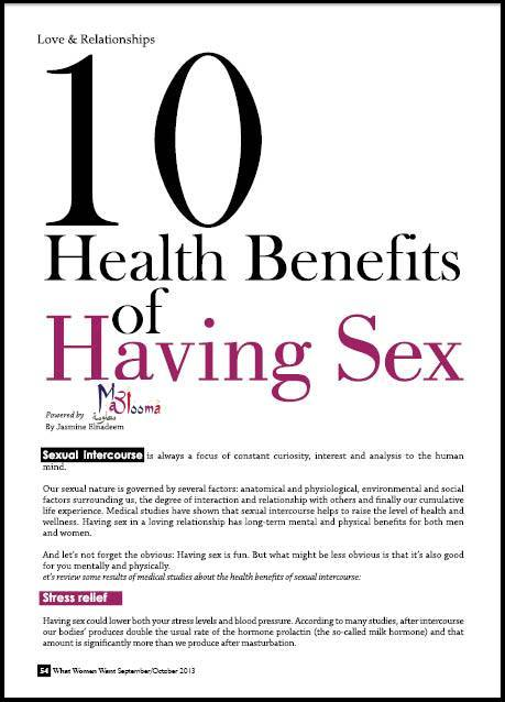 health benefits of female orgasm Jul 2009  This is because sex and orgasms result in increased levels of the hormone   Further, for women, having sex can help strengthen muscles of your pelvic floor   If you'd like to take advantage of some of the health benefits that.